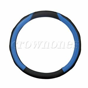 Non slip Pu Leather Car Steering Wheel Cover Red Black M Blue Black
