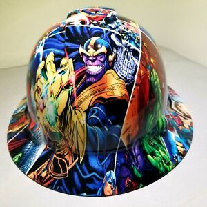 Hard Hat Full Brim Custom Hydro Dipped Osha Marvel Superheroes Comic Strip