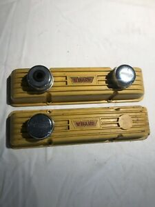 Vintage Weiand Chevy Sbc Aluminum Valve Covers For Small Block Chevy Mr Gasket