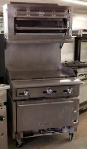 Vulcan 36 Gas Hd Thermostatic Griddle Top Range W Convection Oven And Salama