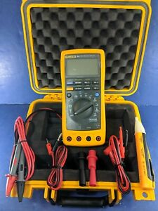 Fluke 189 Trms Multimeter Excellent Hard Case Screen Protector Accessories