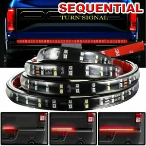 60 Dual Row Sequential Turn Signal Led Bar Tailgate Back Up Brake Light Strip