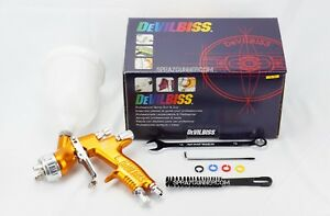 Paint Spray Gun Devilbiss Gti Pro Lite 1 3mm Te20 Gold Cup New From Us Seller