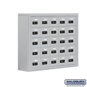Cell Phone Lockers 25 Doors Surface Mounted Resettable Combination Locks