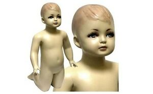 Mn 036 Kneeling Baby Toddler Fleshtone Mannequin W Realistic Face 6 9 Months