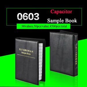 0603 Practical Smd smt Capacitors Sample Book Component 0 5pf 2 2uf Assorted Kit