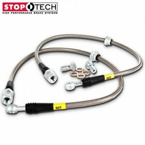Stoptech Stainless Steel Braided Front Brake Lines For 98 03 Mitsubishi Galant