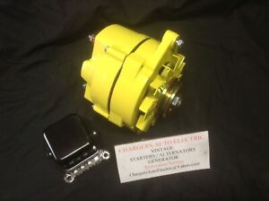 66 72 Cadillac Deville 135 Amp High Output Alternator In Yellow