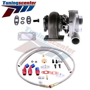 Tct Gt3037 Gt3076r 0 6a R Gt30 500 Hp Polished Turbo Charger Oil Feed Drain Line