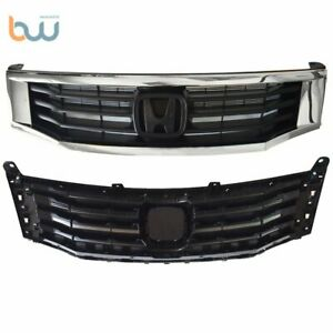 Black With Chrome Molding Trim Grill For Honda Accord 2008 2010