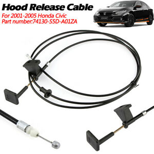 Hood Release Cable With Handle For 2001 2005 Honda Civic 2 4 Door 74130s5da01za