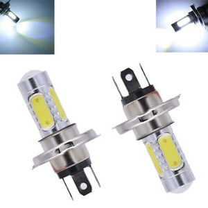 H4 9003 6000k High Power Cob Led Bulb White Hi Low Beam Motorcycle Headlight Chk