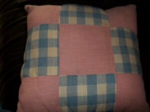 Vintage Quilt Pillow With Wool Back