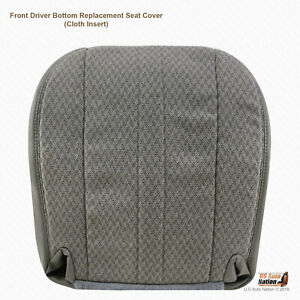 2003 2014 Chevy Express 1500 2500 3500 Van Driver Bottom Cloth Seat Cover Gray