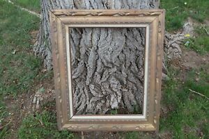 Vintage Hand Carved Wood Picture Frame Outsd 23x27 Insd 16x20 Made In Mexico
