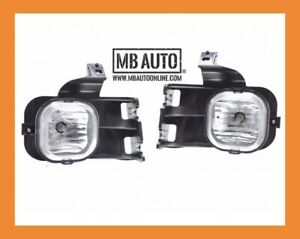 For 2006 2007 Ford Ranger Clear Lens Chrome Housing Replacement Fog Lights Lamps