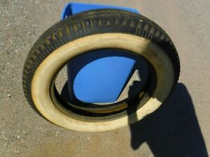Denman Classic Whitewall Tires 4 Ply 5 25 5 50 X 18 Used But Not Abused