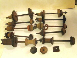 10 Antique Primitive Wood Handmade Clamps Stringed Instrument Building Tool Lot
