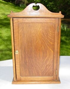 Vintage Hand Crafted Wood Kitchen Medicine Apothecary Wall Cabinet