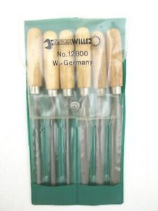 Stahlwille 6 Piece Mini File Set Wooden Handle 6 3 4 Long Nice 12800