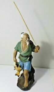Chinese Pottery Old Men Statue