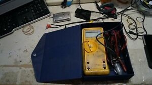 Fluke 23 Series 2 Et23dmma Ii Multimeter With Leads Rubber Protective Cover