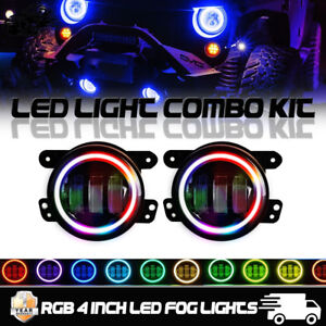 Multi color Rgb Halo Passenger Driving Fog Lights For 2015 Jeep Grand Cherokee
