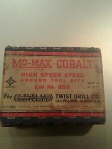 Cleveland 855 Mo max Cobalt Tool Bit Square 5 16 Sealed Box Of 12