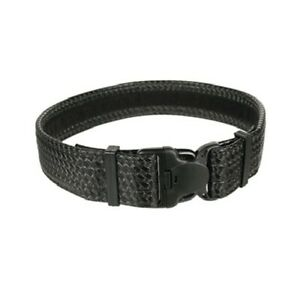 Blackhawk 44b4smbw Basketweave Black Sm Reinforced 2 Web Duty Belt W loop Inner
