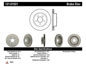 Stoptech Disc Standard Brake Rotor For 1984 1986 Ford Mustang 121 61021
