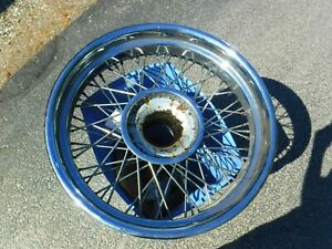 Ss Jaguar 38 48 4 Good Chrome Wire Wheels For 2 5 3 5 Litre Cars Only
