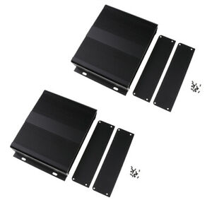 2x Extruded Aluminum Enclosure Diy Electronic Project Case 204mmx48mmx150mm