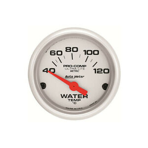 Autometer 4337 Ultra lite Water Temp Gauge 100 250f 2 1 16 In Silver Face