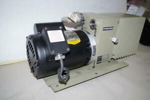 Pfeiffer Du0 012a Vacuum Pump 3 4hp Baldor Motor 115 208 230vac 1ph Vp602