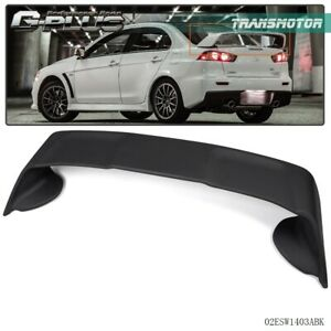For 2008 17 Mitsubishi Lancer Evo10 Rear Spoiler Wing Matte Black Factory Style