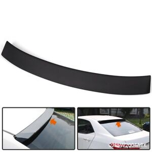 Black Abs Plastic Rear Window Roof Visor Spoiler Wing For 09 13 Toyota Corolla