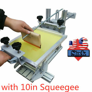 Usa Manual Cylinder Silk Screen Printing Machine With 10 Squeegee