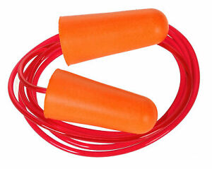 Portwest Ep08 Pu Foam One Size Disposable Safety Ear Plugs With Secure Cord Ansi