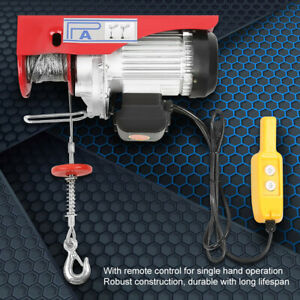 1320 Lb Electric Cable Hoist Crane Lift Garage 110v Auto Shop Winch W remote Hot