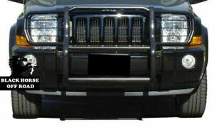 Black Horse For 2006 2013 Jeep Commander Grill Brush Bumper Guard Bar Black
