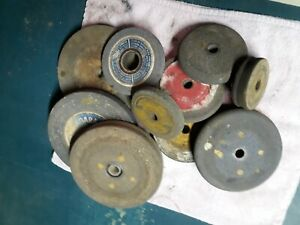 Carbide Grinding Stone Lot Of 10 Niagara Norton Etc All In Great Used Shape