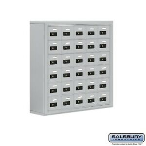 Cell Phone Lockers 30 Doors Surface Mounted Resettable Combination Locks