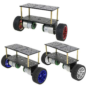 Dc 12v Motor Double deck Two wheeled Smart Robot Balancing Vehicle Chassis