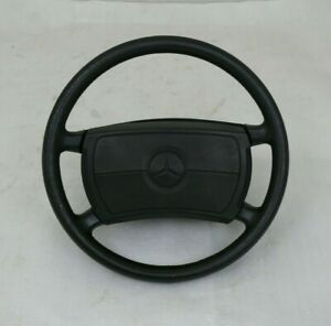 Original Mercedes Benz 190e Black Leather Steering Wheel With Airbag