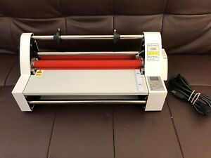 13 350mm Laminator V350 Cold Hot Roll Four Rollers Laminating Machine 110v Used