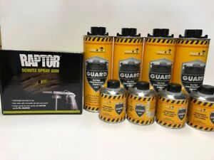 Black Truck Bed Liner 4 Liters Kit W Free Raptor Spray Gun Made In Germany