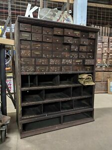 The Cleveland Store Fixture Co Apothecary Nut And Bolt Cabinet Desk Multi Drawer
