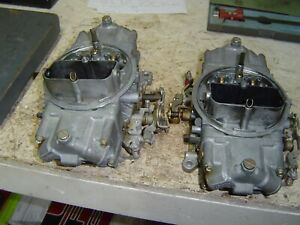 350 Chevrolet Blower Motor Holley Carbs A Set Used On Blower Motor