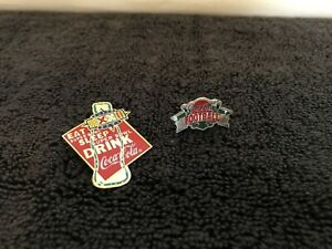 Coca Cola Superbowl 32 Pin & a Coca Cola Football Pin (set of 2)