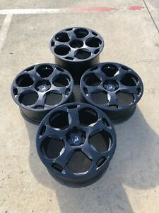 Lamborghini Gallardo 19 Black Factory Oem Wheels Staggered Full Set New